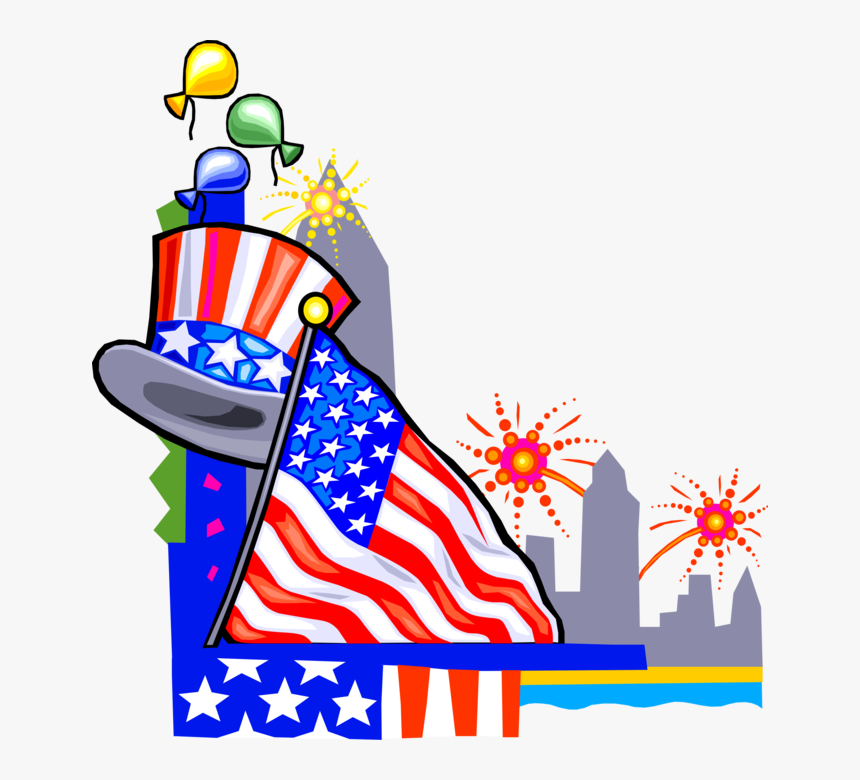 Vector Illustration Of Independence Day 4th Fourth - Gif Labor Day Clipart, HD Png Download, Free Download