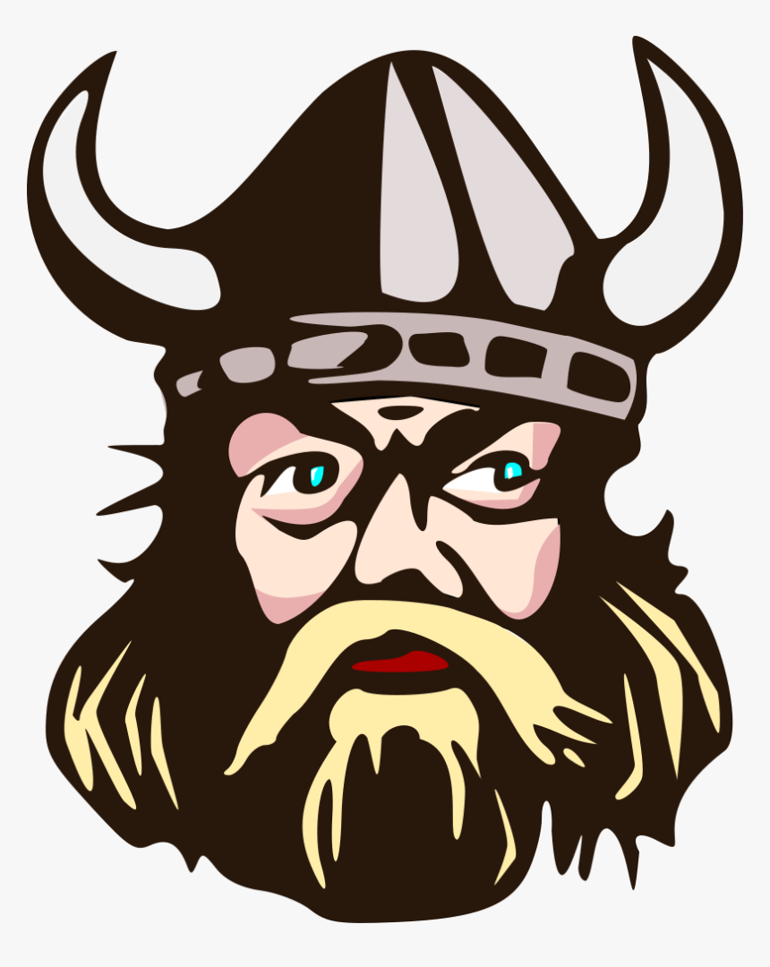 Viking Head With Horn - Clipart Viking, HD Png Download, Free Download
