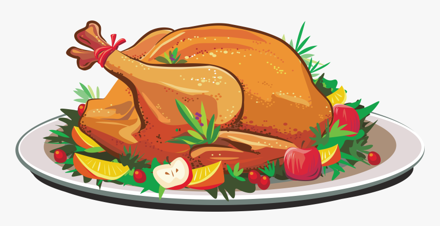Pig Roast Turkey Meat Roasting Clip Art - Cooked Turkey Clipart, HD Png Download, Free Download