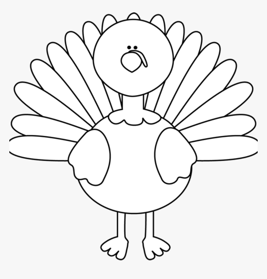 Thanksgiving Turkey Outline - Turkey Clipart Black And White, HD Png Download, Free Download
