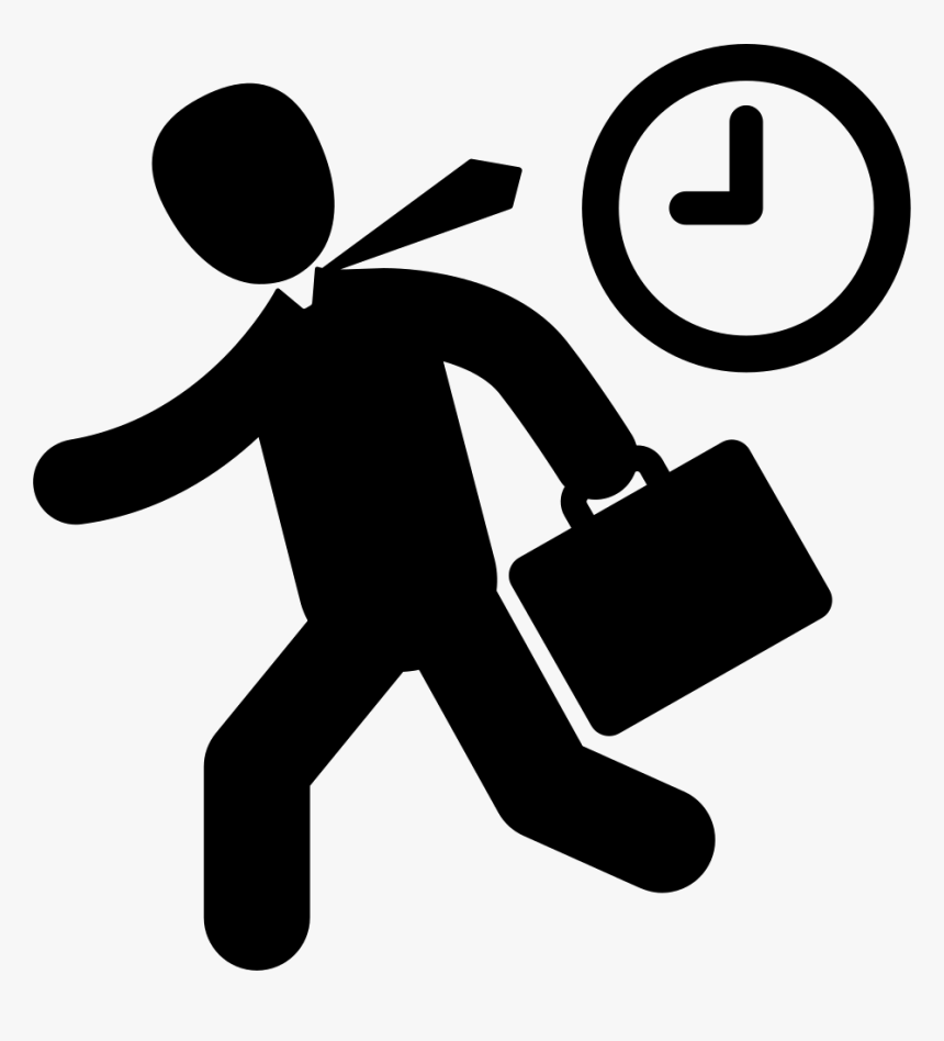 Going To Work Svg Png Icon Free Download Late For Work Icon Transparent Png Kindpng