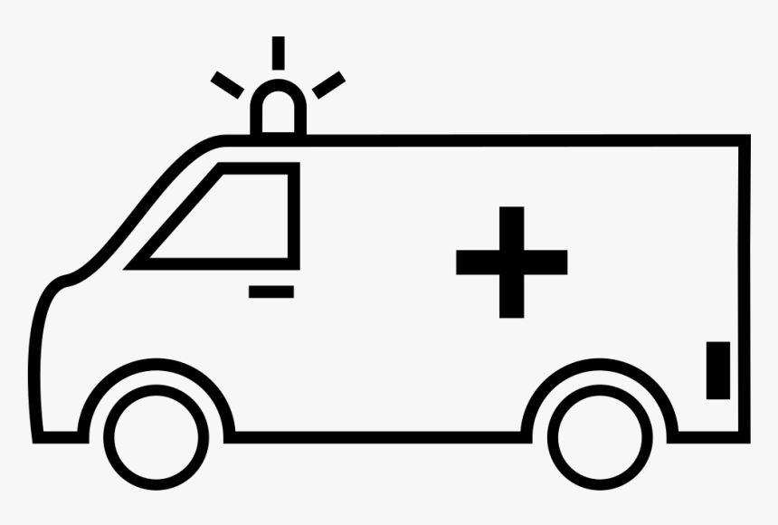 Ambulance - Outline Picture Of A Ambulance, HD Png Download, Free Download
