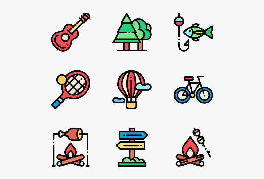 Camp Vector Night Camping Kids Icon Png Transparent Png Kindpng
