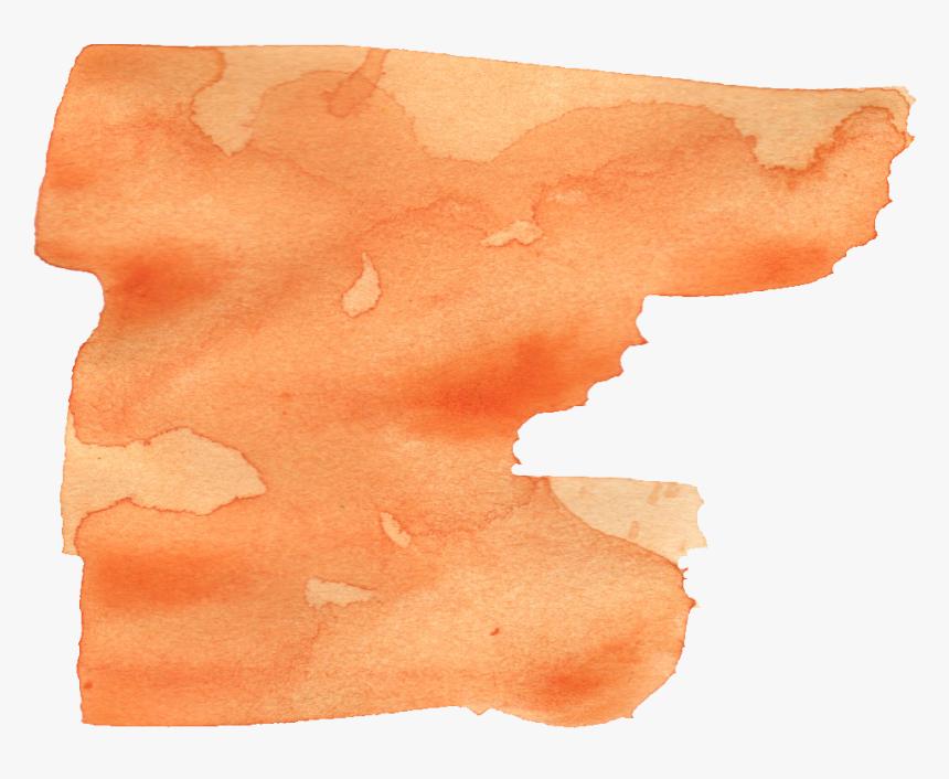 Paint - Brush Stroke Watercolor Orange, HD Png Download, Free Download