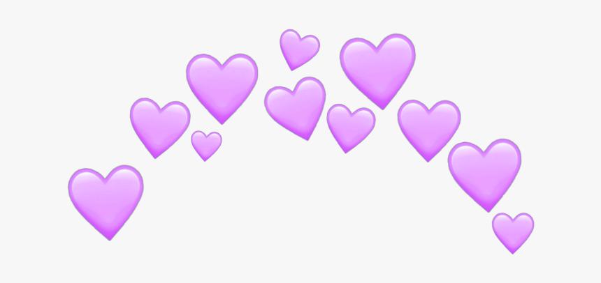 #heart #hearts #purple #purpleheart #crown #emoji #emojis - Pastel Pink Heart Emoji, HD Png Download, Free Download