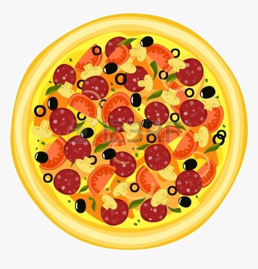 Pizza Whole Pepperoni Clip Art Top Woodworking Designs - Pizza Cut Into 1 8, HD Png Download, Free Download