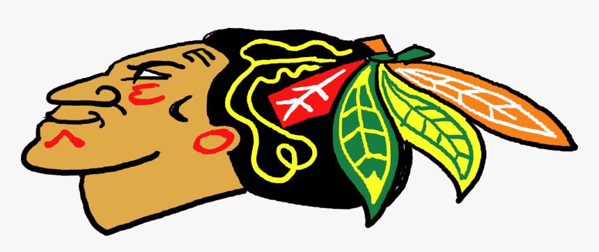 Transparent Blackhawks Logo Png - Old Chicago Blackhawks Logos, Png Download, Free Download