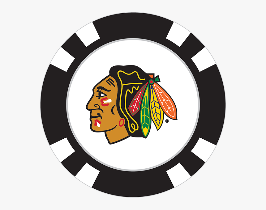 Chicago Blackhawks Poker Chip Ball Marker - Transparent Cleveland Indians Logo, HD Png Download, Free Download