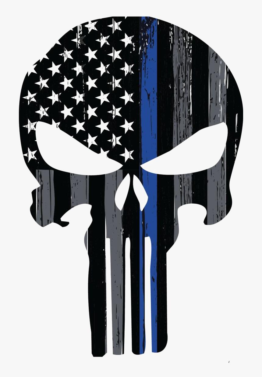 Punisher Png Transparent Image - Thin Blue Line Punisher, Png Download, Free Download