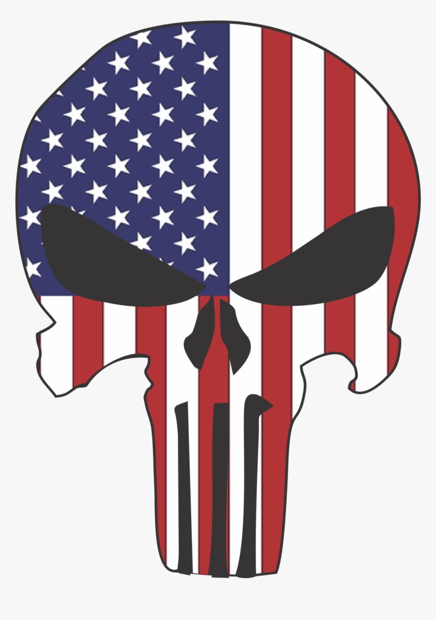 Punisher Skull Usa Flag - Usa Flag Punisher Skull, HD Png Download, Free Download