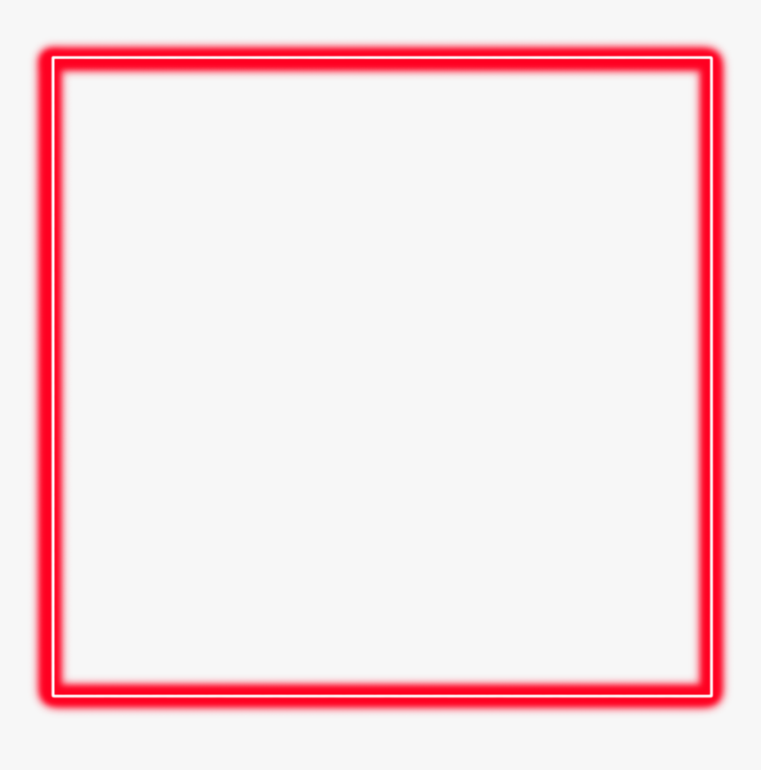 #neon #square #red #freetoedit #frame #border #geometric - Symmetry, HD Png Download, Free Download