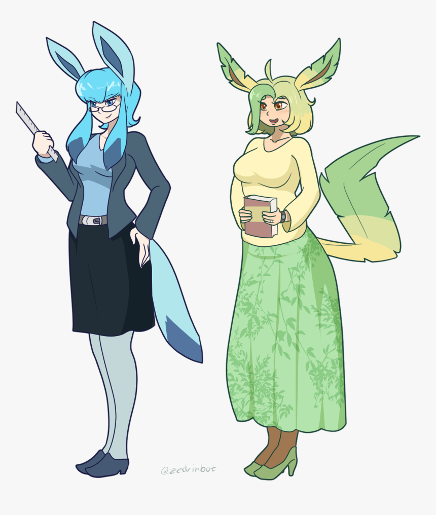 Glaceon And Leafeon Gjinkas - Cute Glaceon And Leafeon, HD Png Download, Free Download