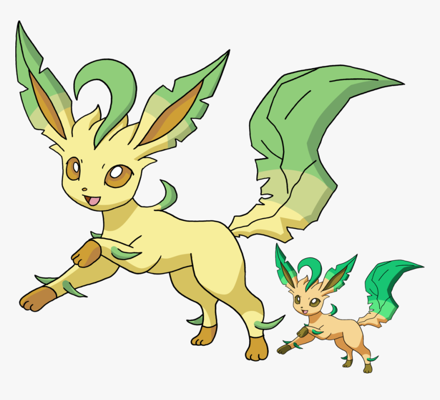 Shiny Leafeon And Normal Leafeon, Transparent Png , - Leafeon Normal And Shiny, Png Download, Free Download