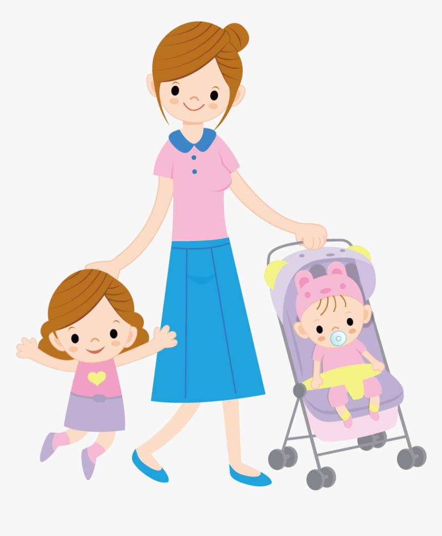 Mother Clipart Child Free Ibu Dan Anak Kartun HD