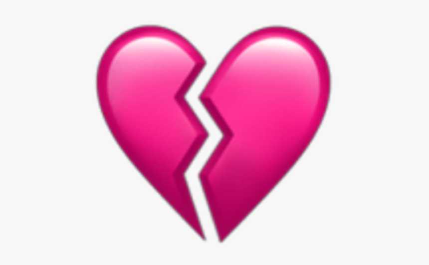 #pink #broken #heart #emoji #overlay #edit #shattered - Heart, HD Png Download, Free Download