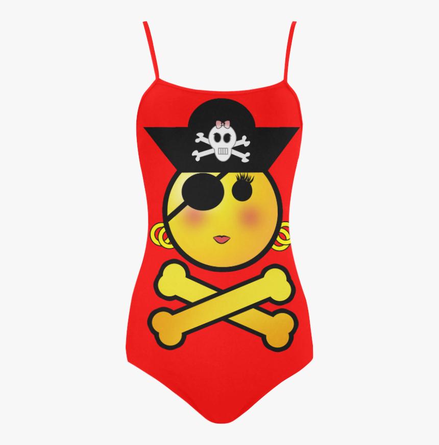 Smiley Emoji Girl Strap Swimsuit - Cartoon, HD Png Download, Free Download