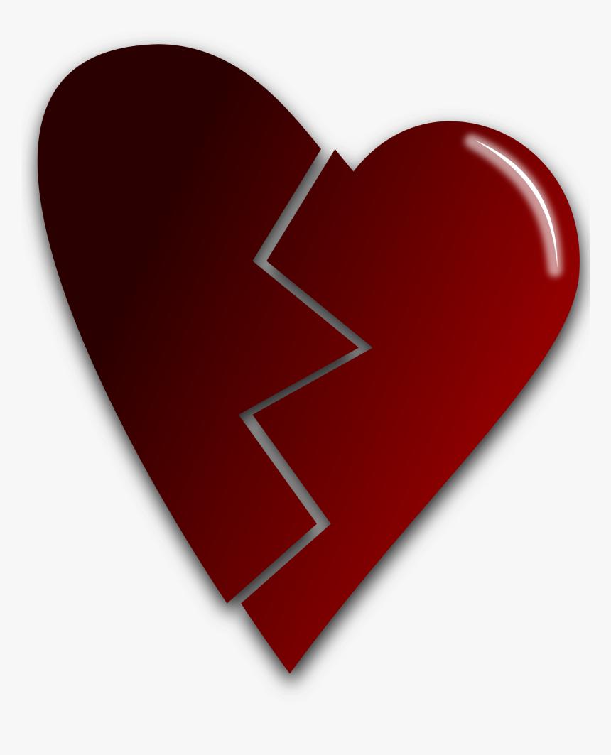 Clipart - Broken Heart Art Transparent, HD Png Download, Free Download
