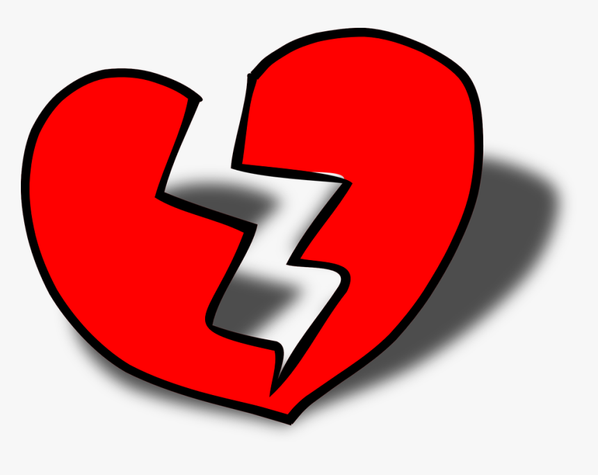 Broken Blue Heart Emoji - Broken Heart Cartoon Png, Transparent Png, Free Download