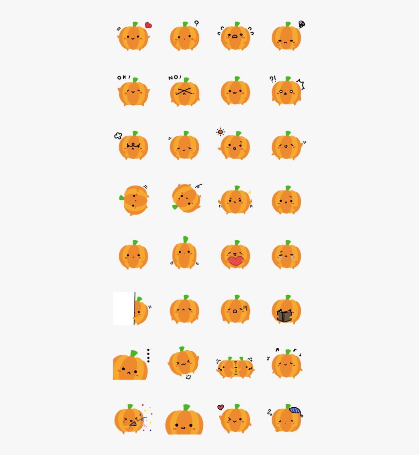 "Pumpkin""s Cute Sticker - Cute Pumpkin Sticker Png, Transparent Png, Free Download"