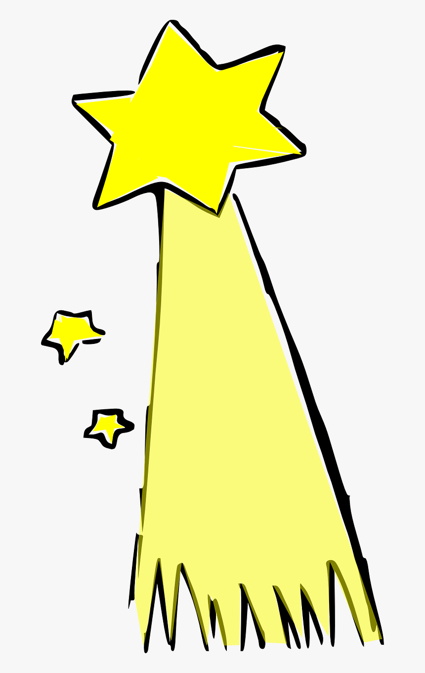 Shooting Star Comet Star Free Picture - Shooting Star Clip Art, HD Png Download, Free Download