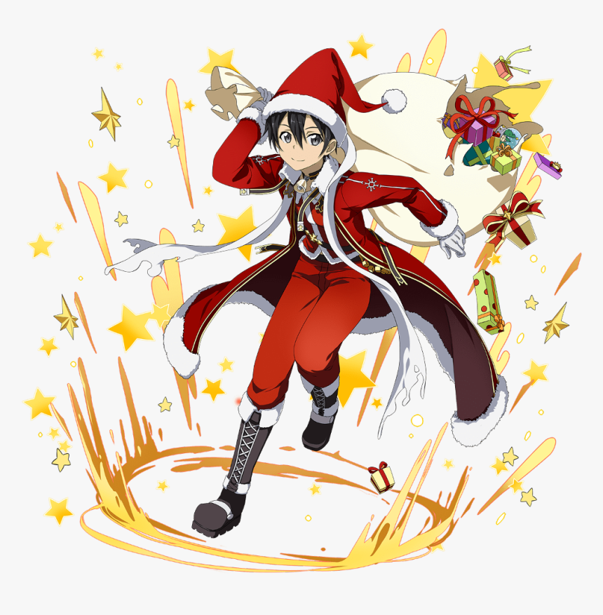 #anime #christmas #kawaii #kirito #freetoedit - Sword Art Online Kirito Christmas, HD Png Download, Free Download