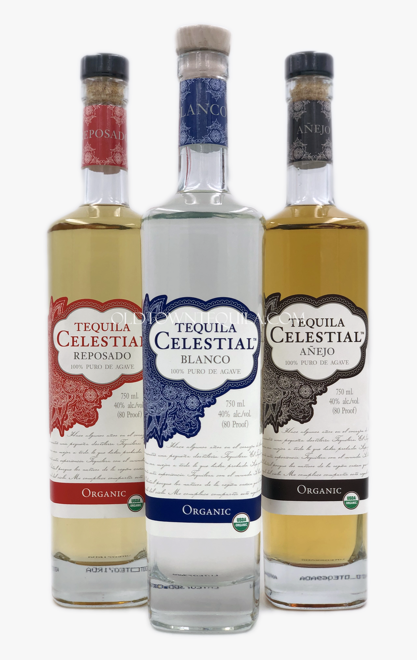 Celestial Organic Tequila Set - Glass Bottle, HD Png Download, Free Download