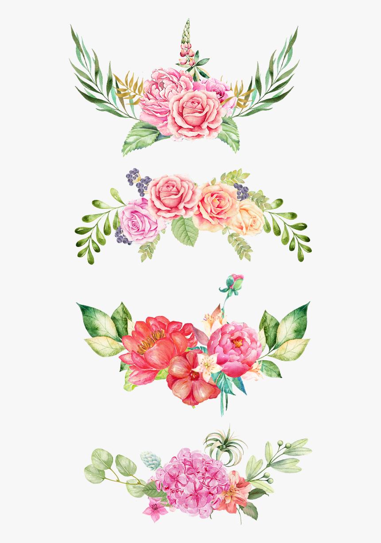 Floral Print Png - Pink Floral Watercolor Png, Transparent Png, Free Download