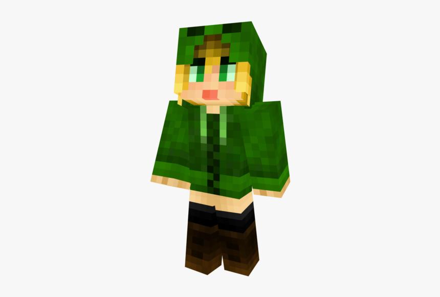 Minecraft Skin Creeper Hoodie Girl, HD Png Download, Free Download