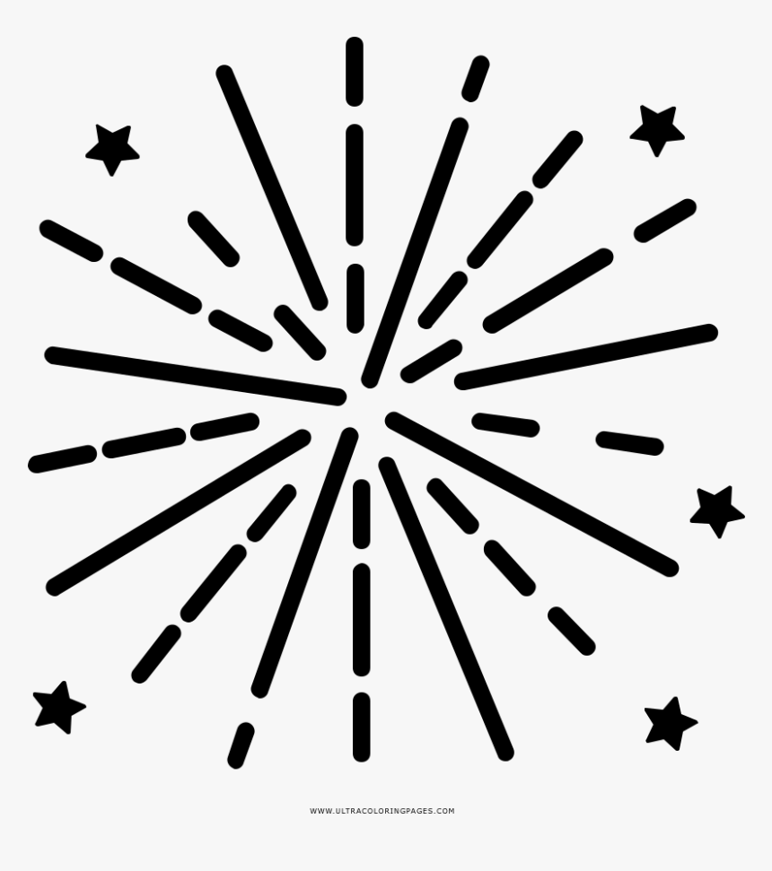Fogos De Artifício Coloring Page - Pink And Gold Stars Clipart, HD Png Download, Free Download