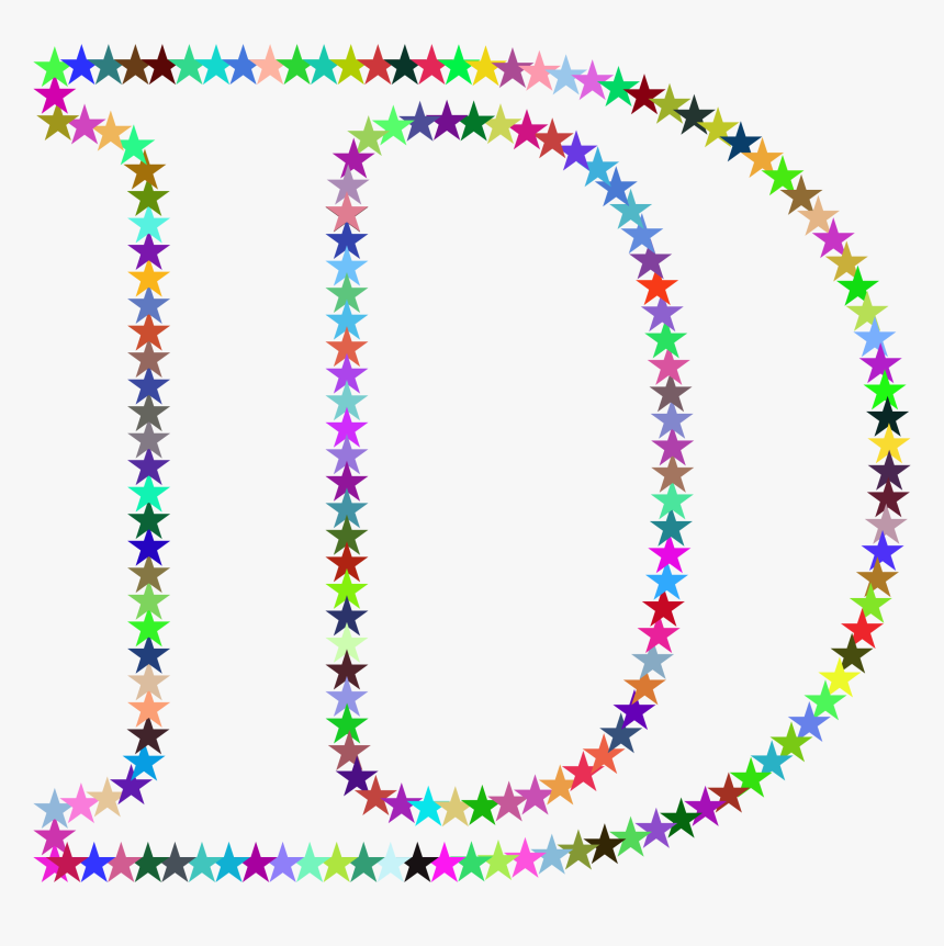 D Stars Clip Arts - Letter P With Stars, HD Png Download, Free Download