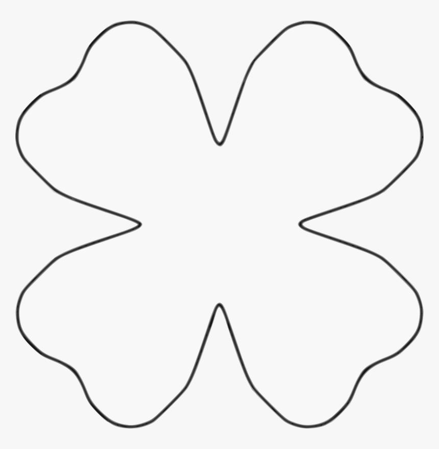 4 Petal Paper Flower Template, HD Png Download, Free Download