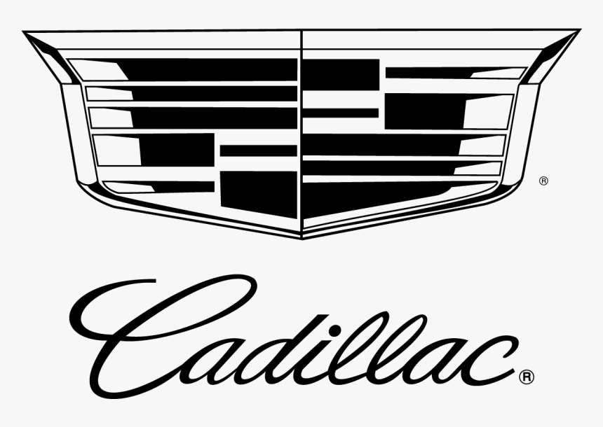 Cadillac Logo Vector Black Outline Transparent Free - Cadillac Logo Jpg, HD Png Download, Free Download
