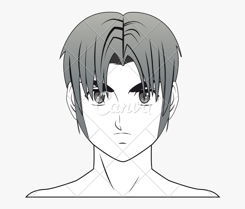 Young Guy Anime Boy - Easy Anime Boy Human Drawings, HD Png Download, Free Download