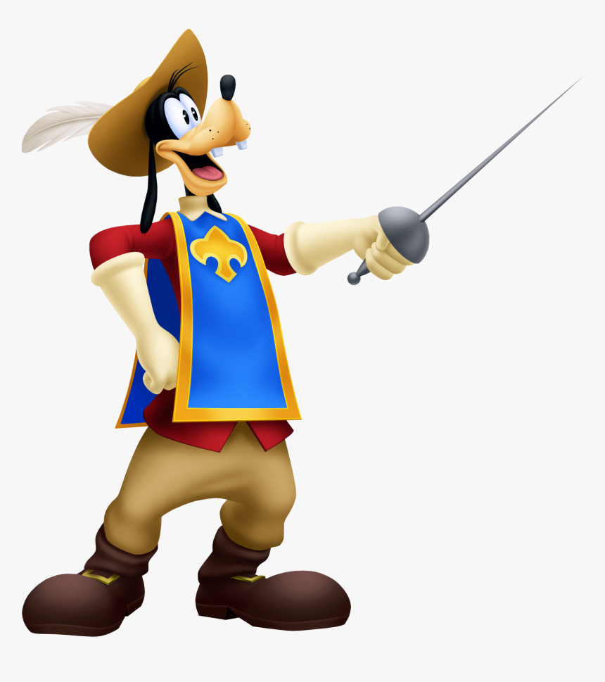 Kingdom Hearts Mickey Donald Goofy The Three Musketeers, HD Png Download, Free Download