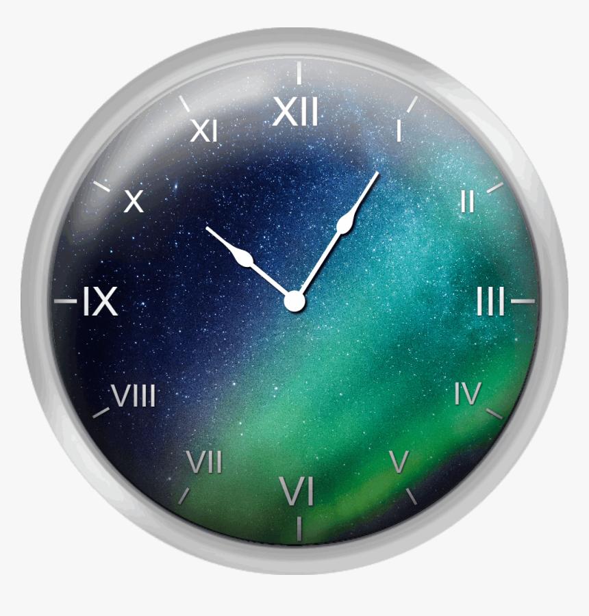 Milky Way And Aurora Borealis - Wall Clock, HD Png Download, Free Download