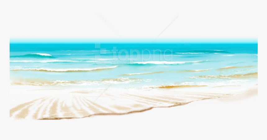 Transparent Beach Background Png - Transparent Background Beach Waves Ocean Png, Png Download, Free Download