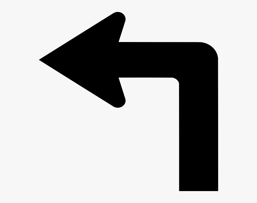 Arrow Left Turn Png, Transparent Png, Free Download