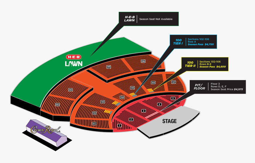 Austin 360 Amphitheater Seating Chart