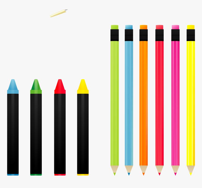 Crayon Colored Pencil Euclidean Vector - Colour Pencil Png Vector Img, Transparent Png, Free Download