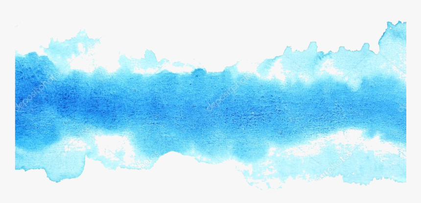 Transparent Blue Gradient Png - Watercolour Painting Brush Strokes, Png Download, Free Download