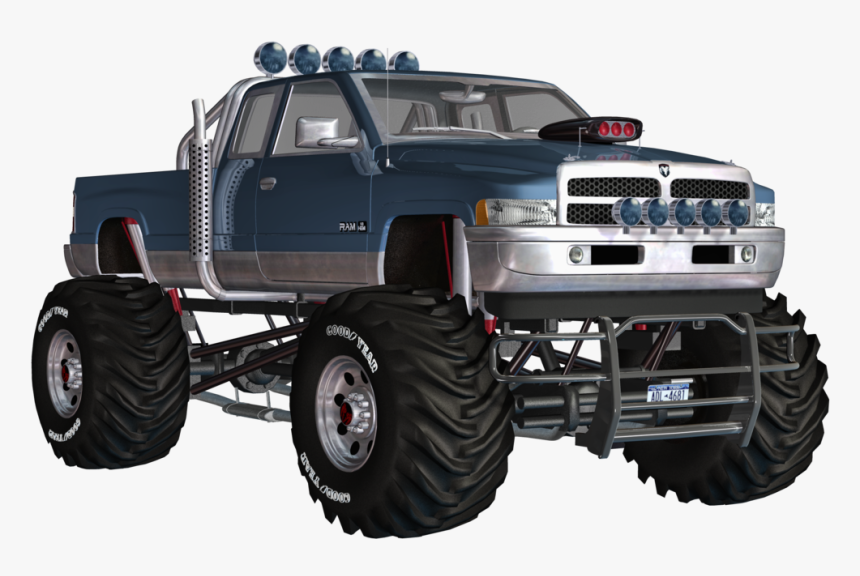 2 Picture Monster Truck Pc Type Pickup Truck Hd Png Download Kindpng