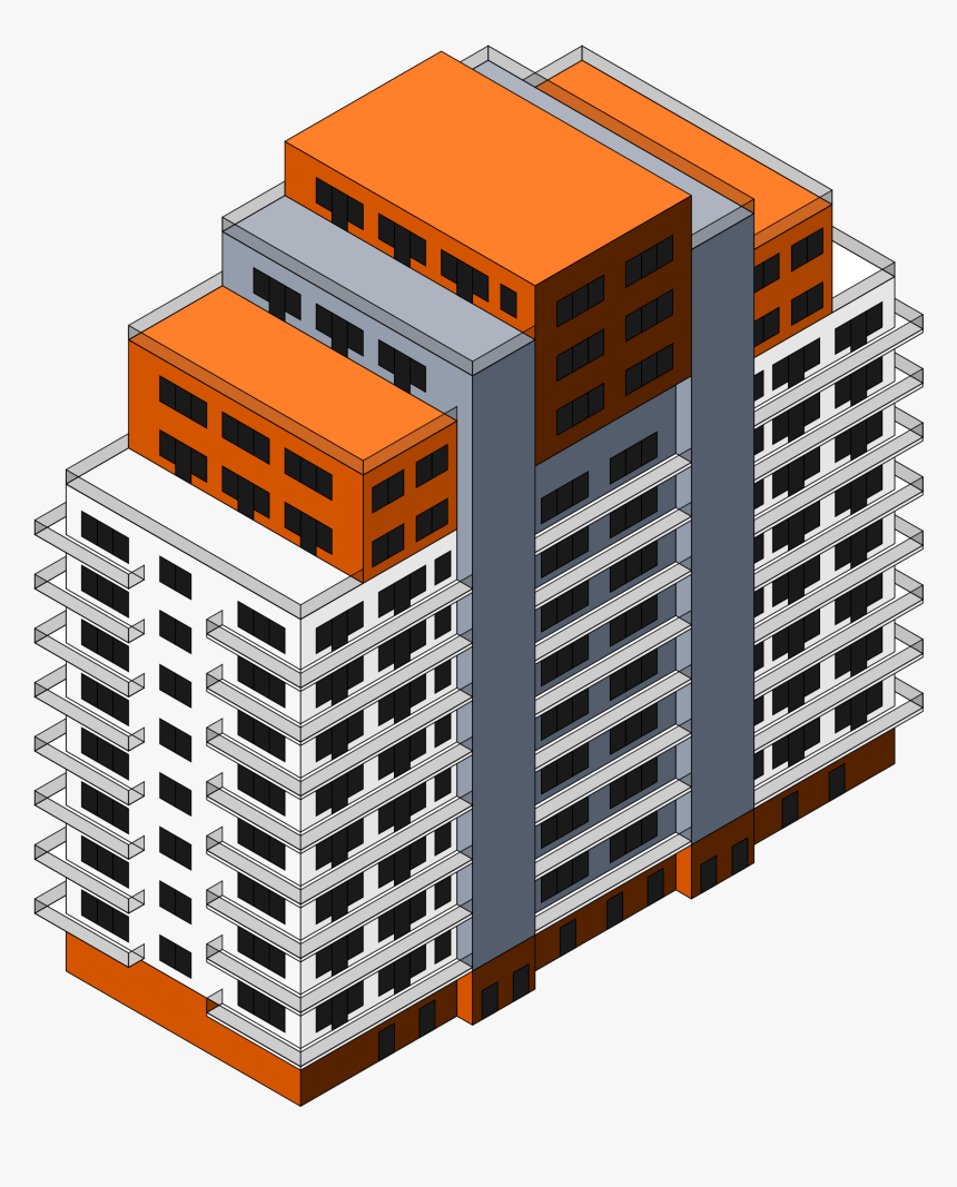 Transparent Buildings Isometric - 3d Isometric Building Png, Png Download, Free Download