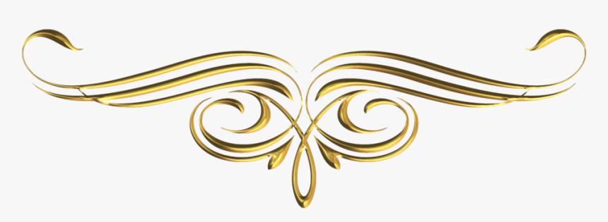 Gold Divider Png - Golden Border Design Png, Transparent Png, Free Download