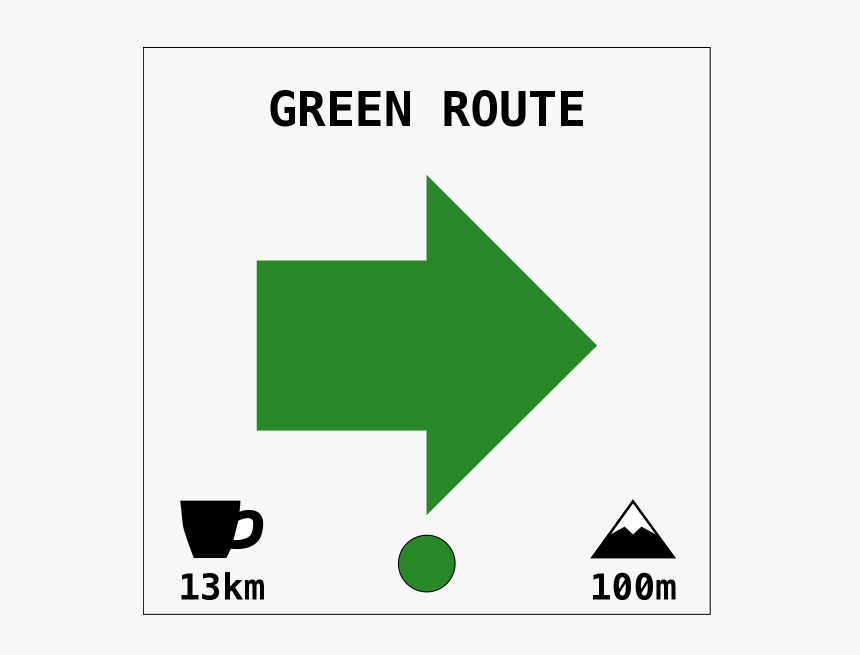 Green Route - Sign, HD Png Download, Free Download
