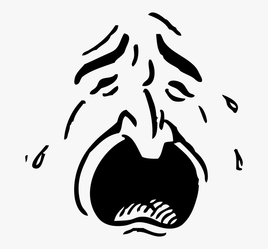 Face, Person, Human, Sad, Cry, Emotion, Weeping, Tears - Crying Face Transparent, HD Png Download, Free Download