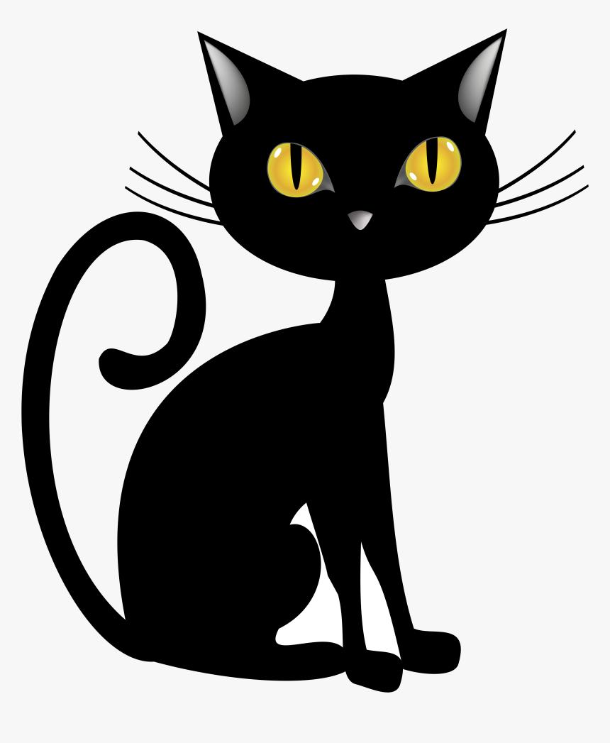 Black Cat Halloween Clip Art Image Gallery Transparent - Transparent Halloween Cat Png, Png Download, Free Download