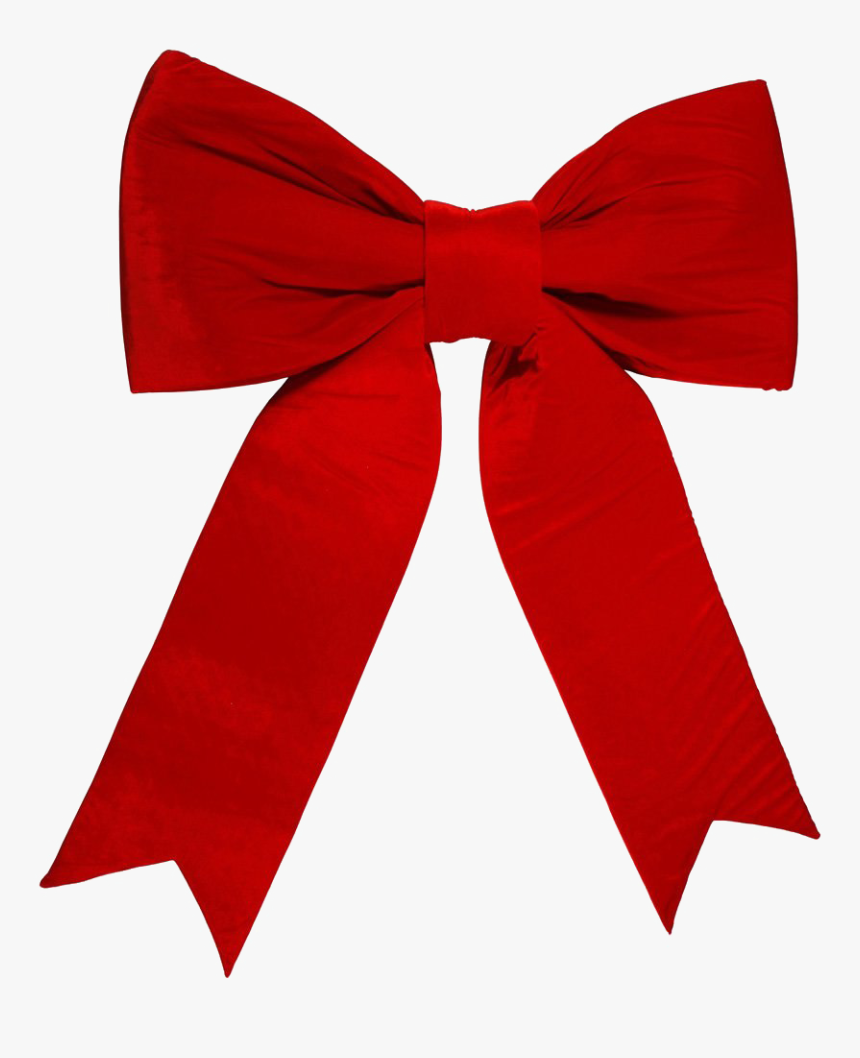 Red Christmas Bow Png, Transparent Png, Free Download