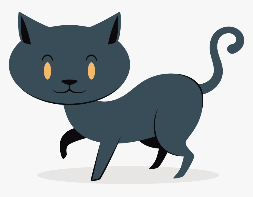 Transparent Black Cat Png - Domestic Short-haired Cat, Png Download, Free Download