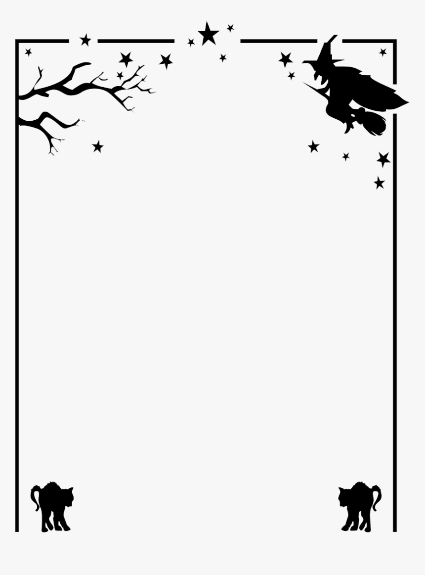 Halloween Border Png Hd - Halloween Border Black And White, Transparent Png, Free Download