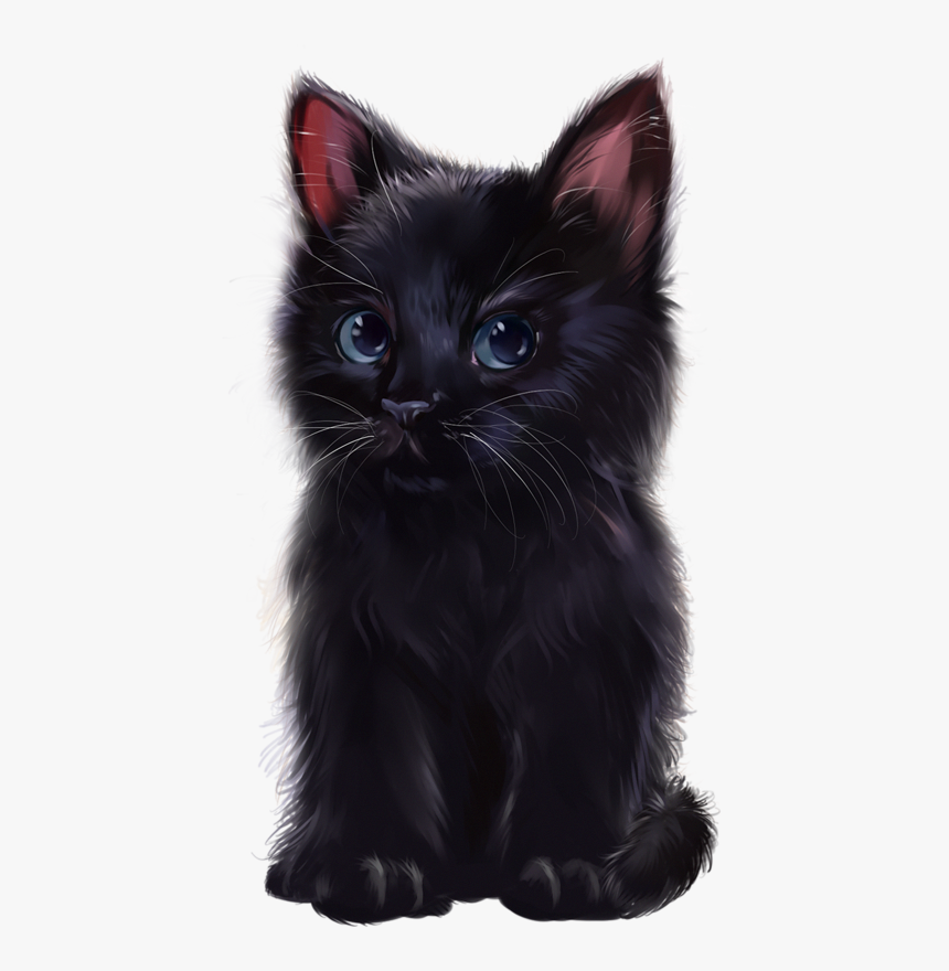 Cute Cats In Black Colour Hd Png Download Kindpng